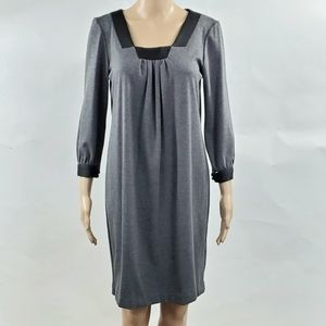 London Times Womans Knee Length Dress Size 6 Gray